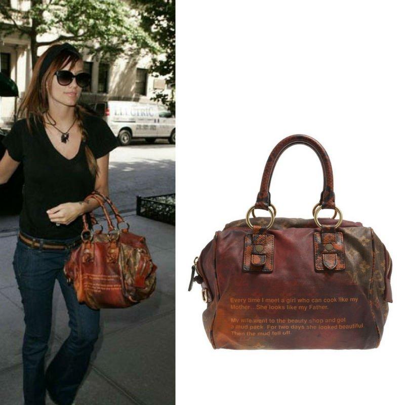 Ashlee Simpson Carrying Louis Vuitton Mancrazy
