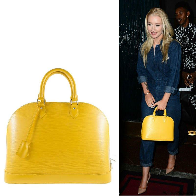 Iggy Azalea spotted carrying Louis Vuitton Alma